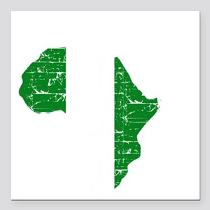 """african soccer designs Square Car Magnet 3"""" x 3"""""""