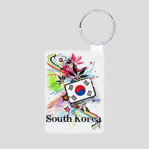 flowerSouthKorea1 Aluminum Photo Keychain