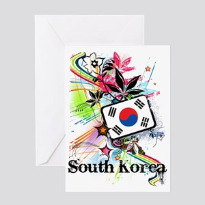 Korean greeting cards cafepress flowersouthkorea1 greeting card m4hsunfo