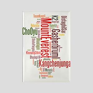 wordle 1 mountain list Rectangle Magnet