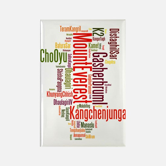wordle 1 mountain list Rectangle Magnet