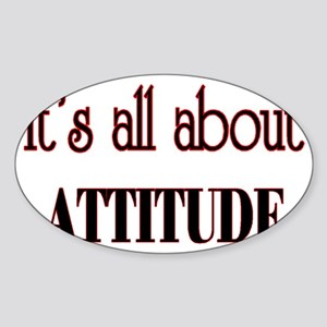 attitude Sticker (Oval)
