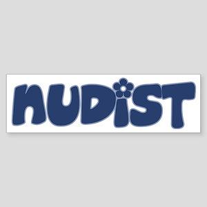nudist Sticker (Bumper)
