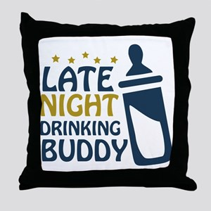 drinkingbuddy Throw Pillow