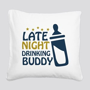 drinkingbuddy Square Canvas Pillow