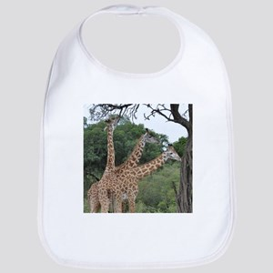 three giraffes Bib