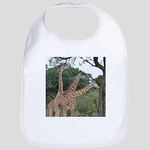three giraffes Bib