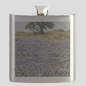 BlueBonnetsAndTree Flask