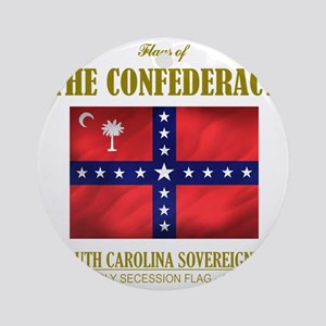SC Sovereignty (Flag 3) Round Ornament
