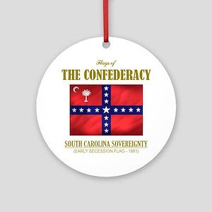 SC Sovereignty (Flag 3) Round Ornament