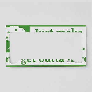 Make Like a Tree License Plate Holder