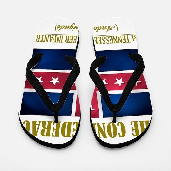 1st Tennessee Vol Inf (Flag 3) Flip Flops