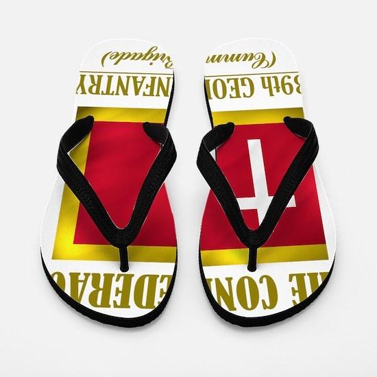 39th Georgia Infantry(Flag 3) Flip Flops