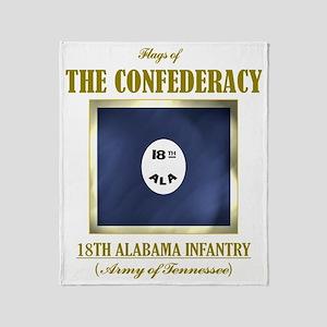 18th Alabama Infantry (Flag 3) Throw Blanket