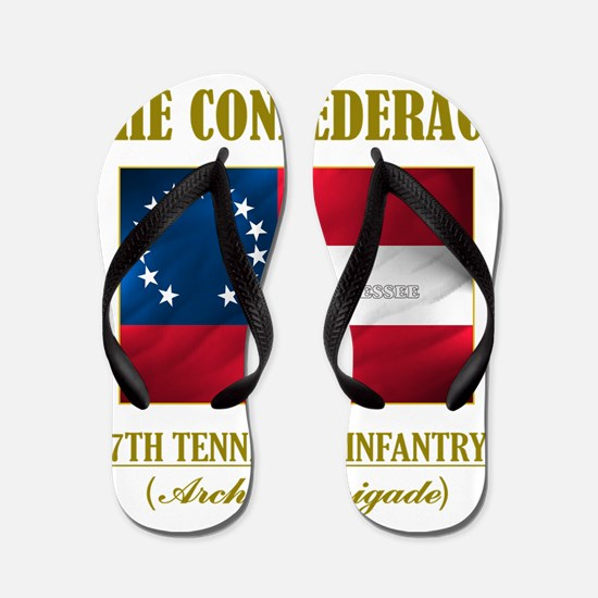 7th Tennessee Inf (Flag 3) Flip Flops