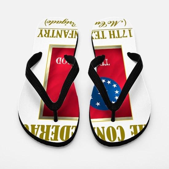 17th Texas Inf (Flag 3) Flip Flops