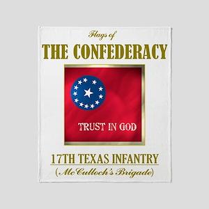 17th Texas Inf (Flag 3) Throw Blanket
