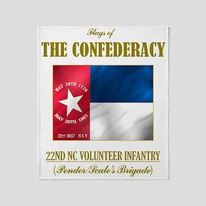 22nd NCV (Flag 3) Throw Blanket