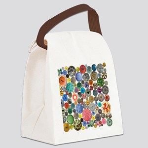 Buttons Square Canvas Lunch Bag