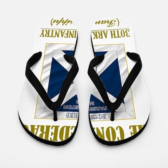 30th Arkansas Inf (Flag 3) Flip Flops