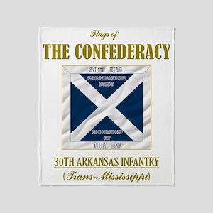 30th Arkansas Inf (Flag 3) Throw Blanket