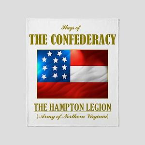 The Hampton Legion (Flag 3) Throw Blanket