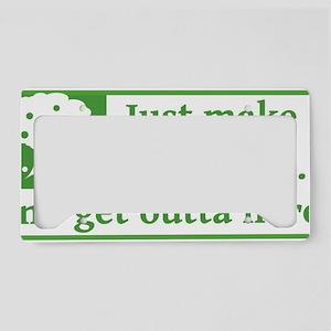 Make Like a Tree (White) License Plate Holder