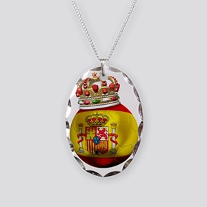 Spain Football5 Necklace Oval Charm