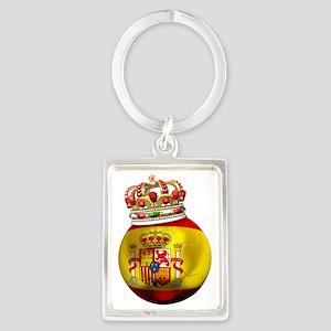 Spain Football5 Portrait Keychain