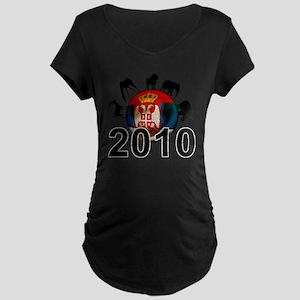 Serbia Football2 Maternity Dark T-Shirt