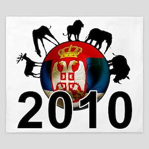 Serbia Football2 King Duvet