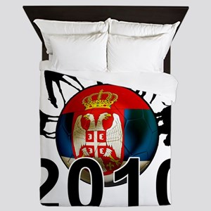 Serbia Football2 Queen Duvet