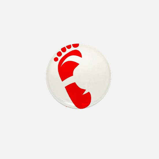 runbarefoot mid WHT Mini Button