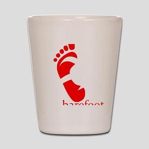 runbarefoot mid WHT Shot Glass
