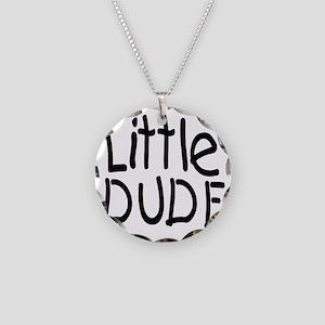 Little dude black Necklace Circle Charm