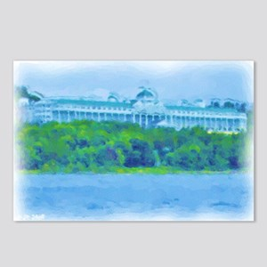 Mackinac Hotel-water_gree Postcards (Package of 8)