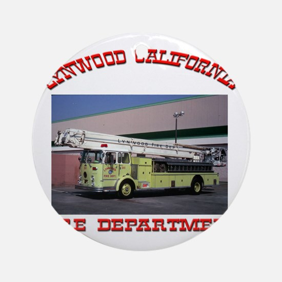 lynwoodfiredepartment Round Ornament