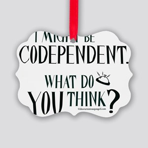 10x10apparel_codependent Picture Ornament