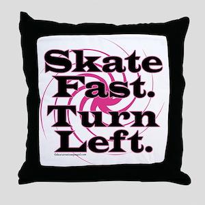 10x10apparel_skatefastturnleft Throw Pillow