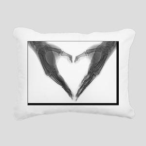 X-ray Heart Rectangular Canvas Pillow
