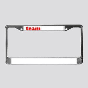 teambubba_white License Plate Frame