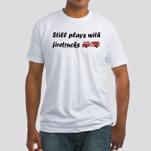 """Still plays with firetrucks"" Ash Grey T-Shirt"