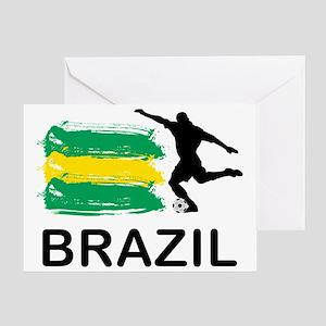 Brazil Football7 Greeting Card