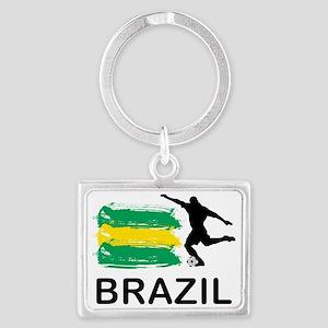 Brazil Football7 Landscape Keychain