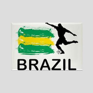 Brazil Football7 Rectangle Magnet