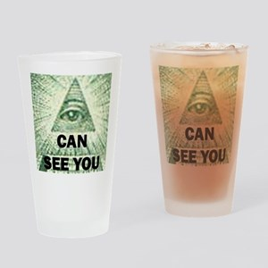 I can see you Drinking Glass