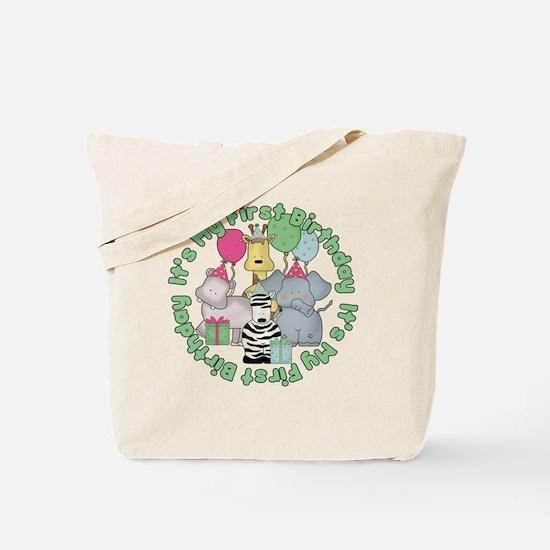 baby zoo buddies birthday3 Tote Bag