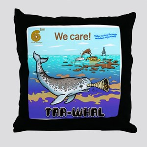Mutant Tarwhal Throw Pillow
