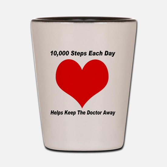 10000 Steps Plain Shot Glass