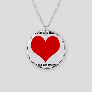 10000 Steps Plain Necklace Circle Charm
